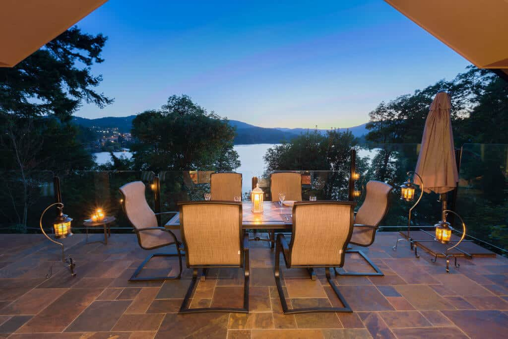 Beautiful view from this outdoor living space