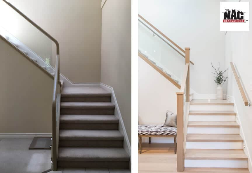 stairs - before and after