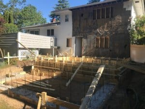 forming the foundation - home renovation in Victoria BC